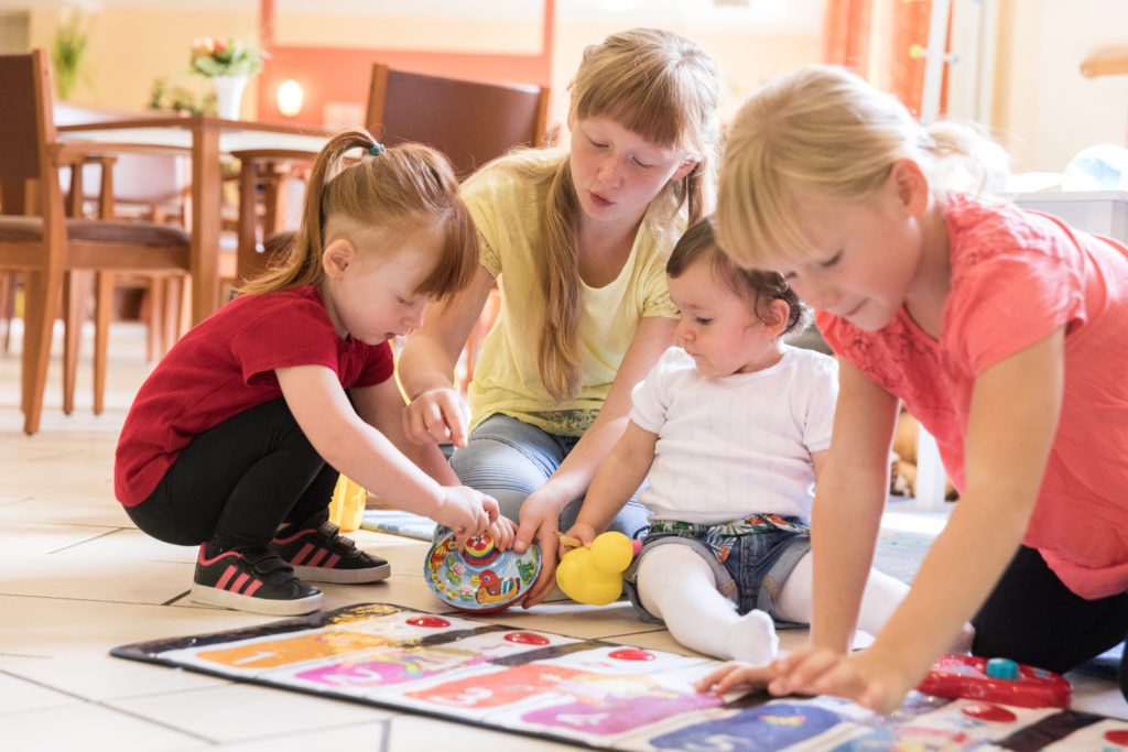 Im Curanum St. Viti gibt es viele Spielmöglichkeiten für die Kinder der Mitarbeiter.